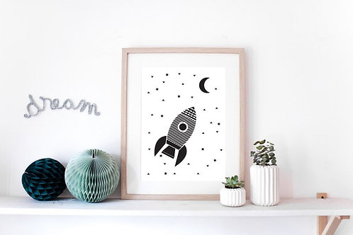 Affiche Fusée