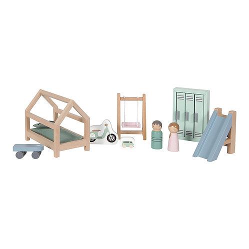 La chambre d'enfant de la maison de poupées