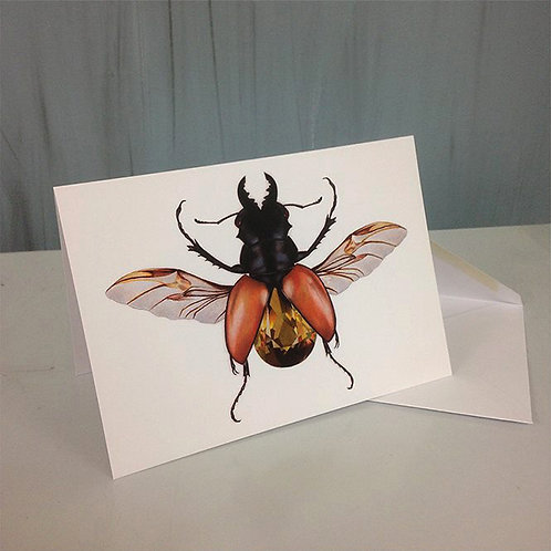 Greetings Card-Beetle Jewel