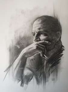THE THINKER (Charcoal)