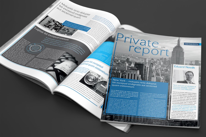 Design časopisu Private Report