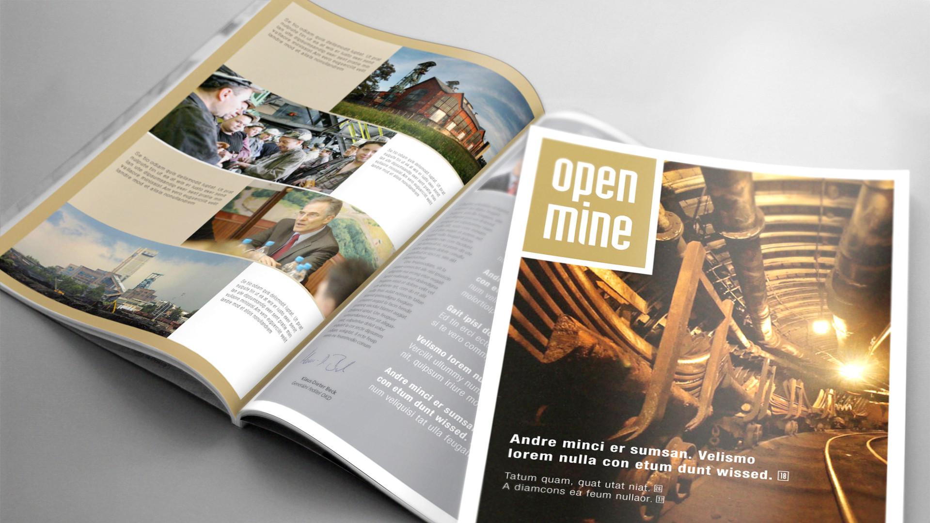 Design firemního časopisu