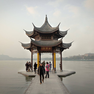 The pavilion on Westlake in Hangzhou is a favourite with photographers