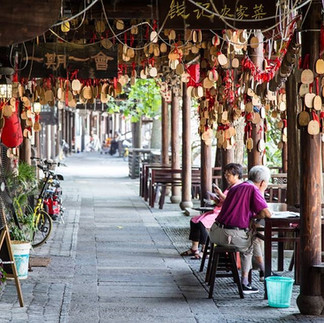Xincheng watertown on the outskirts of Shanghai