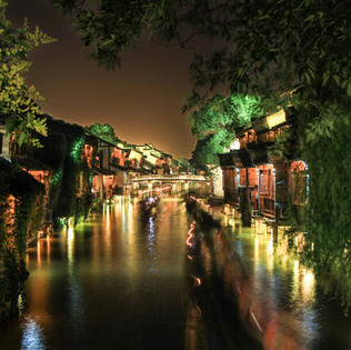 Suzhou, one of the many picturesque ancient watertowns near Shanghai