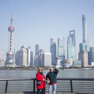 Magnificent views from the Bund across the Huangpu River to Pudong