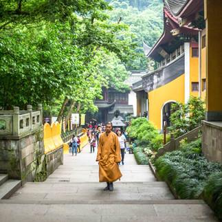 Buddhist monk in Hangzhou