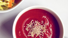 Hearty Beetroot, Lentil And Vegetable Soup