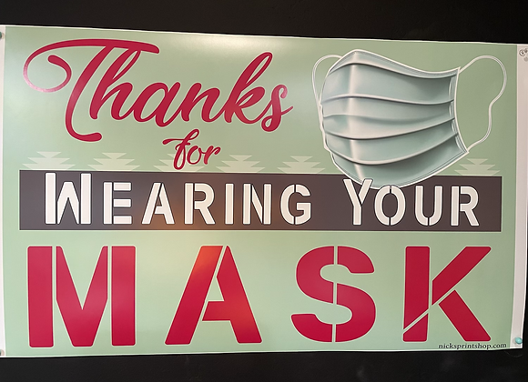 Thanks for wearing your Mask - Signage Sticker