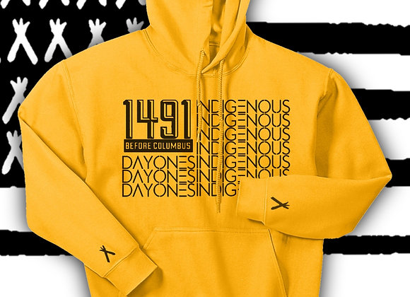 Gold Edition -1491 Flag Hoodie