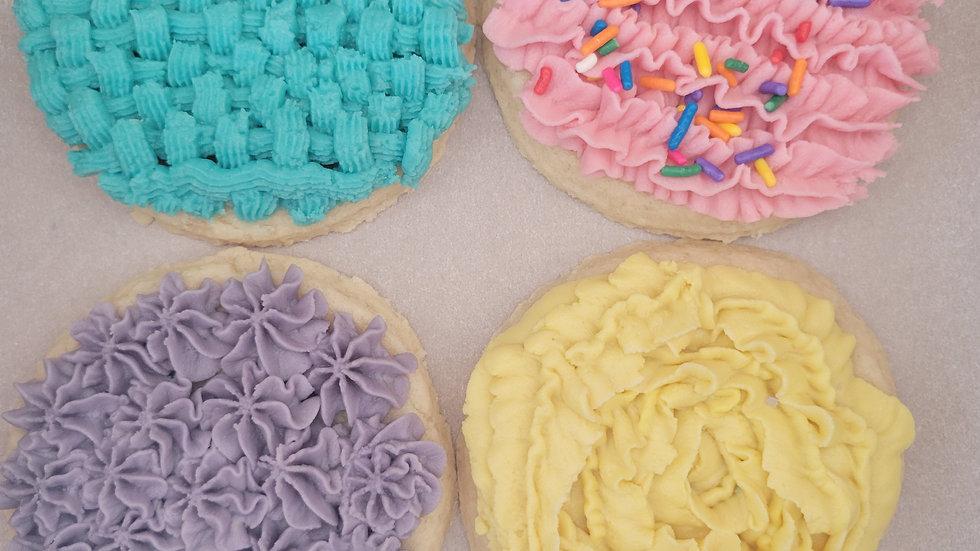 Frosted Sugar Cookies 1/2 dozen