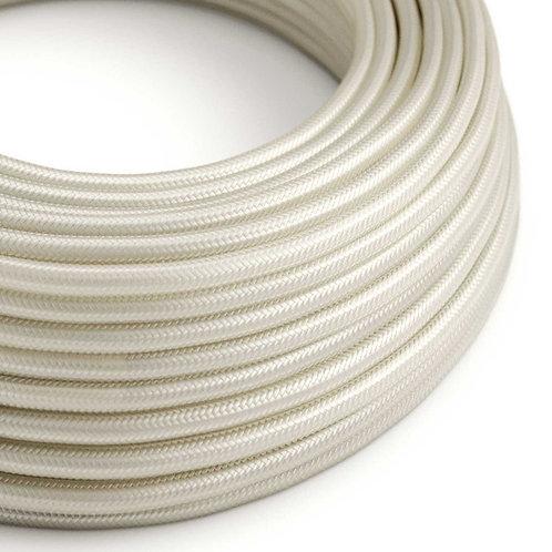 Câble électique rond ivoire