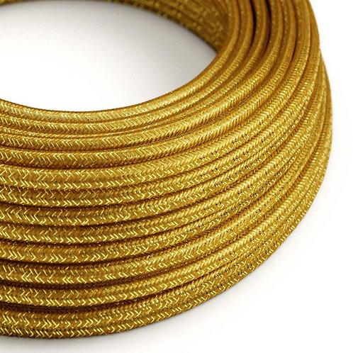 câble electrique pailleté or