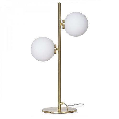 Lampe 2 Globes laiton