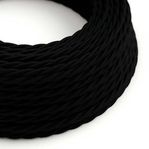 câble électrique torsadé noir