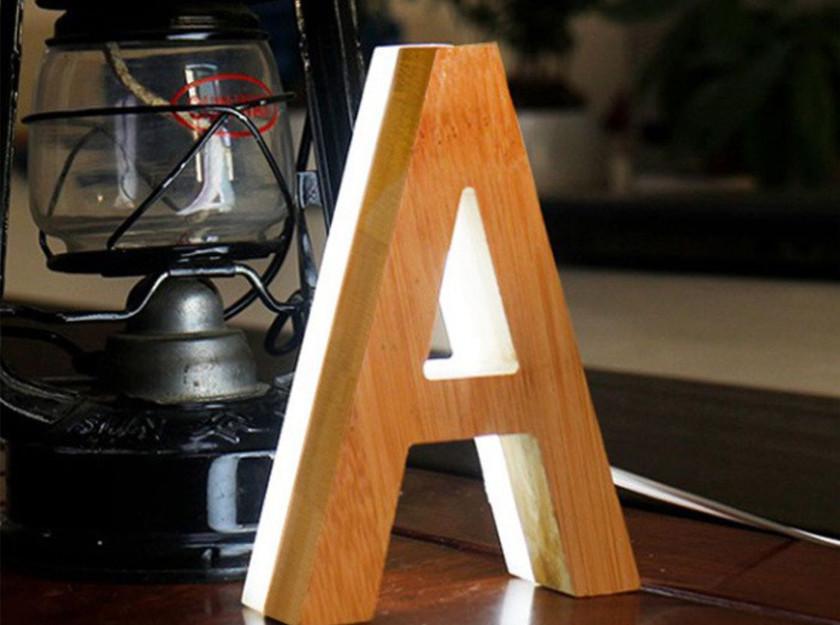 木頭室內發光招牌欣賞