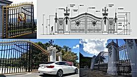 金屬造型大門設計