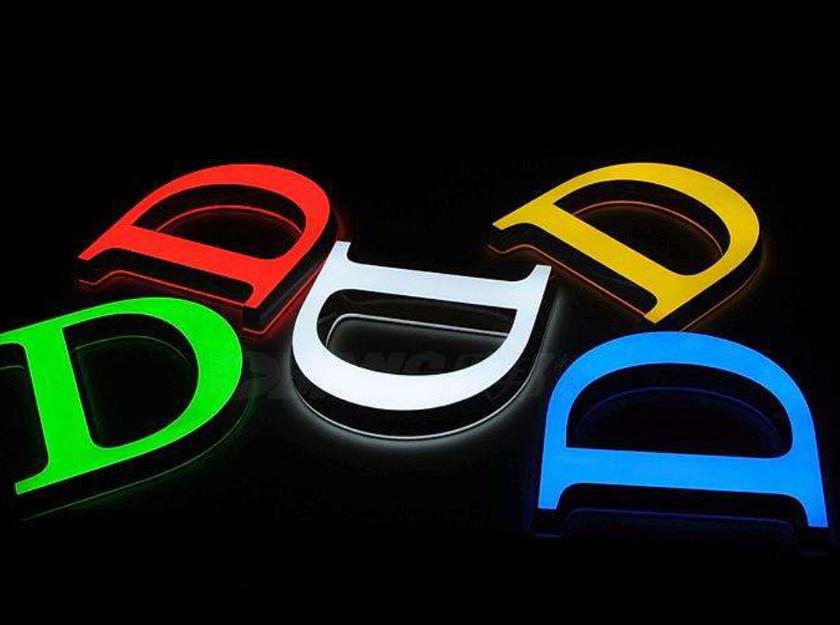 室內壓克力發光字招牌顏色參考