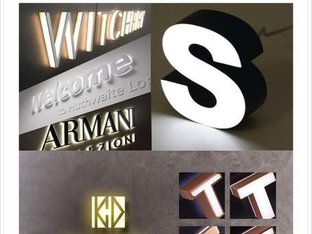 【室內LED發光立體字招牌介紹】招牌123+設計GO
