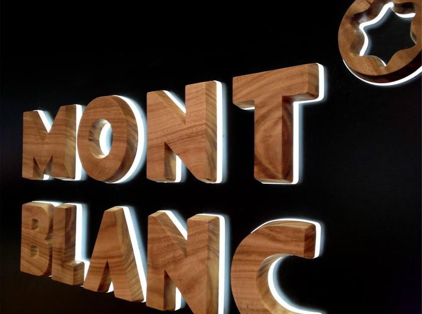 室內木頭招牌發光字