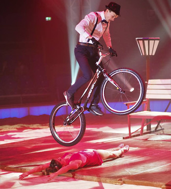 Bike Trial Circus Show Performance by circus artists