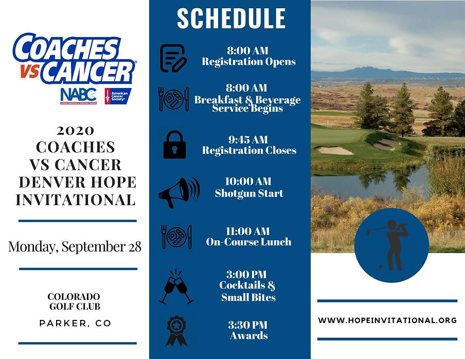 2020 ACS Denver Hope Invitational Schedu