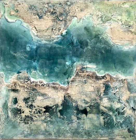 Coastline III, 120x120cm