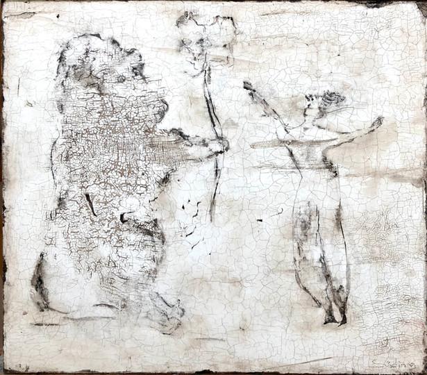 Frohsinn III, 50 x 50 cm