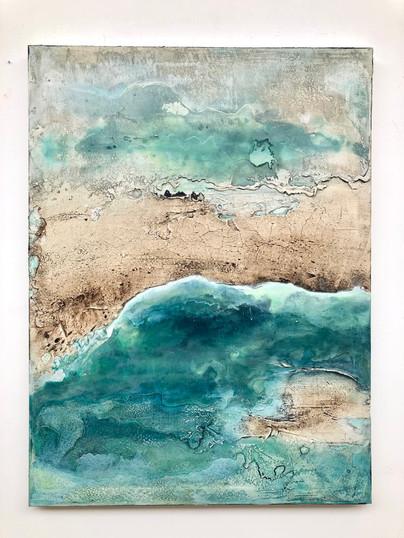 Coastline V, 120 x 90 cm