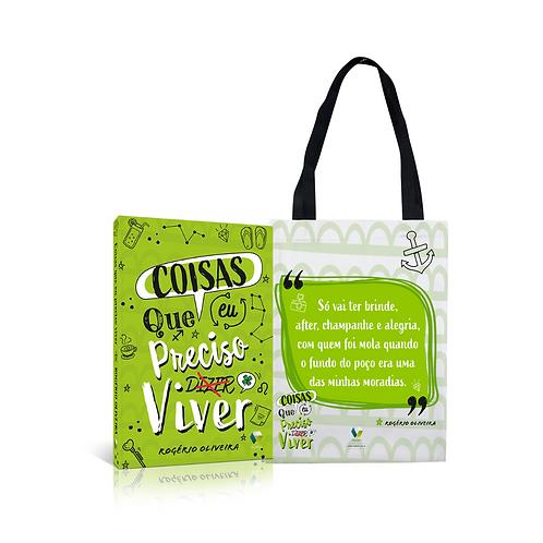 Livro + sacola personalizada - Coisas que eu preciso viver