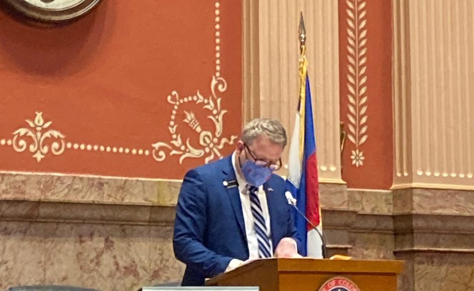 Senator Kolker chairing the Committe of the Whole