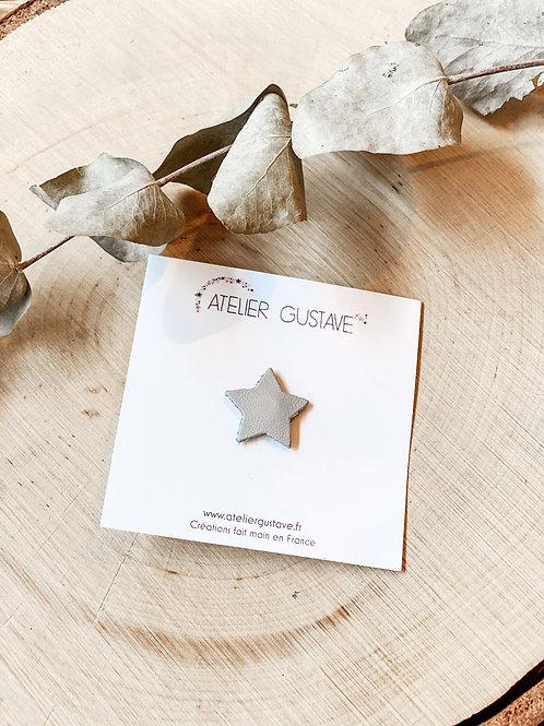 Broche étoile Atelier Gustave gris