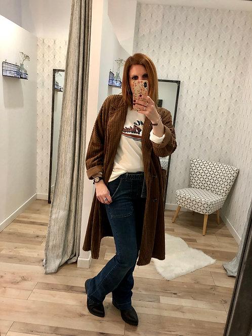 Manteau velours marron