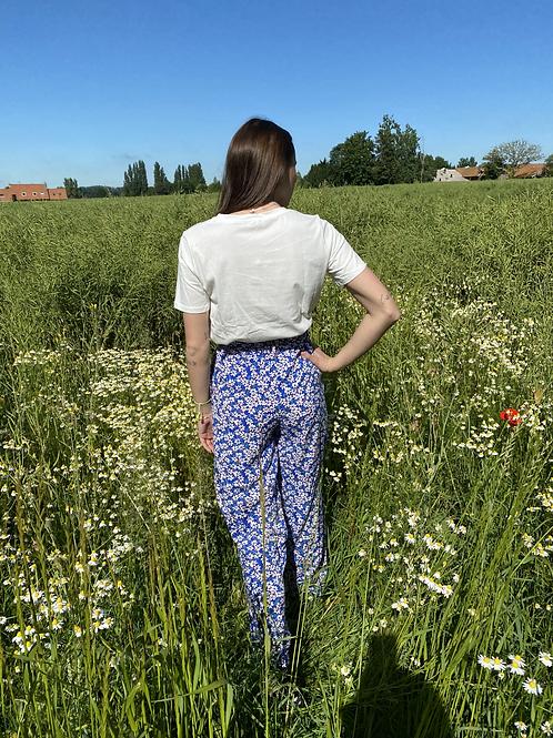 "Pantalon fleuri ""Marguerite"""