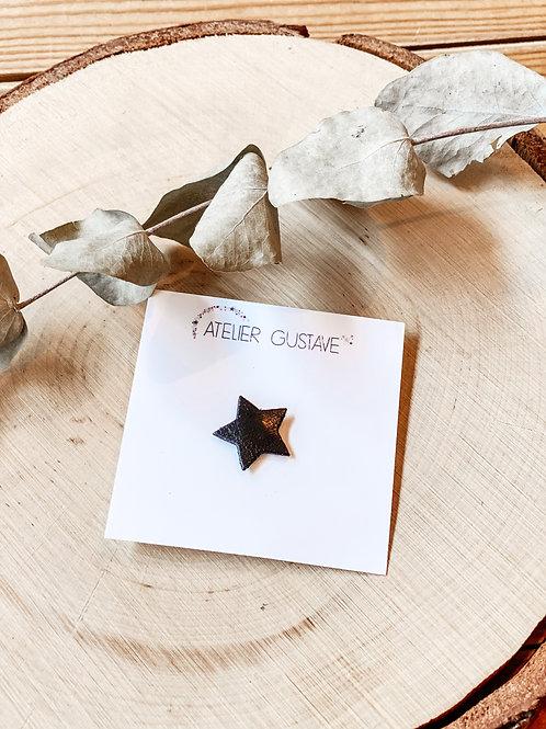 Broche étoile Atelier Gustave noir