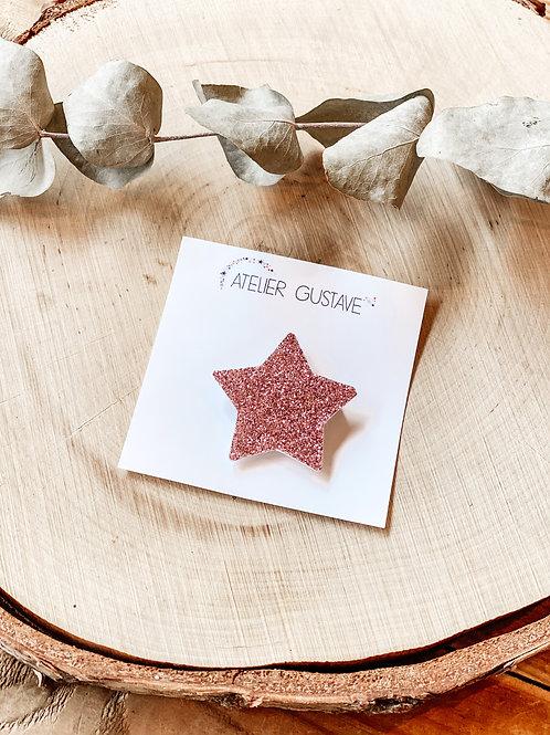Broche étoile Atelier Gustave rose