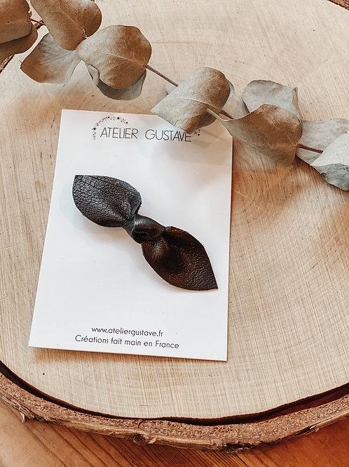Broche noeud noir Atelier Gustave