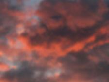 Fiery Evening Clouds