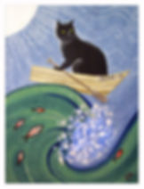 Cat in Rowboat