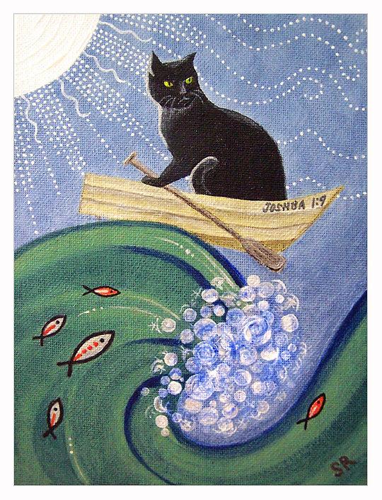 Cat in Rowboat