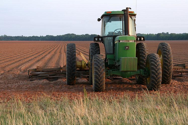 John Deere Tractor and Plow