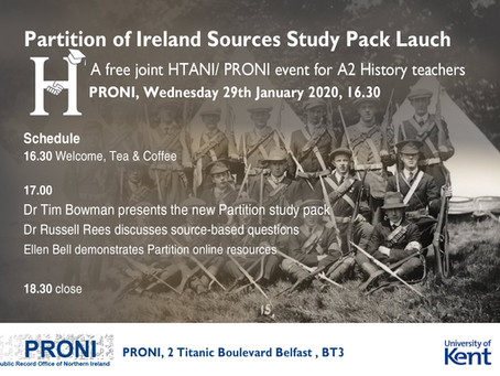 Launch of the Partition of Ireland Sources Study Pack