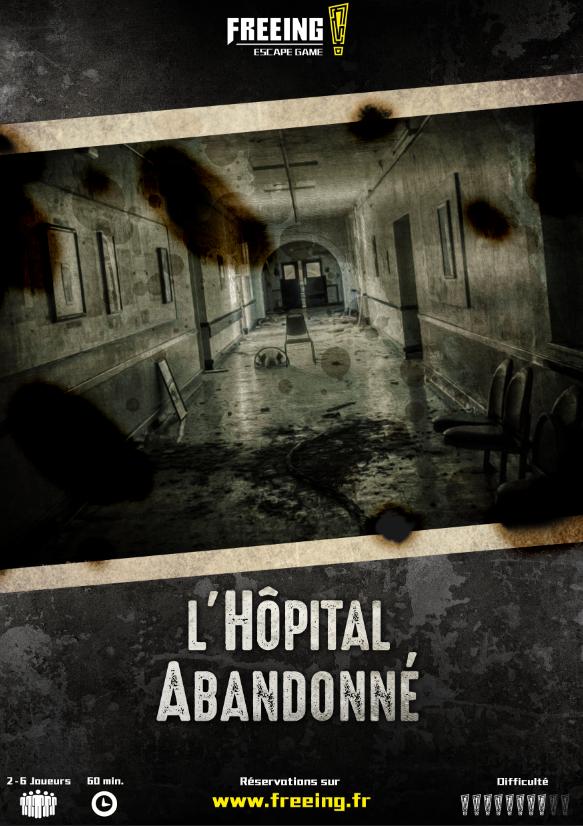 salle Hôpital Abandonné freeing escape game