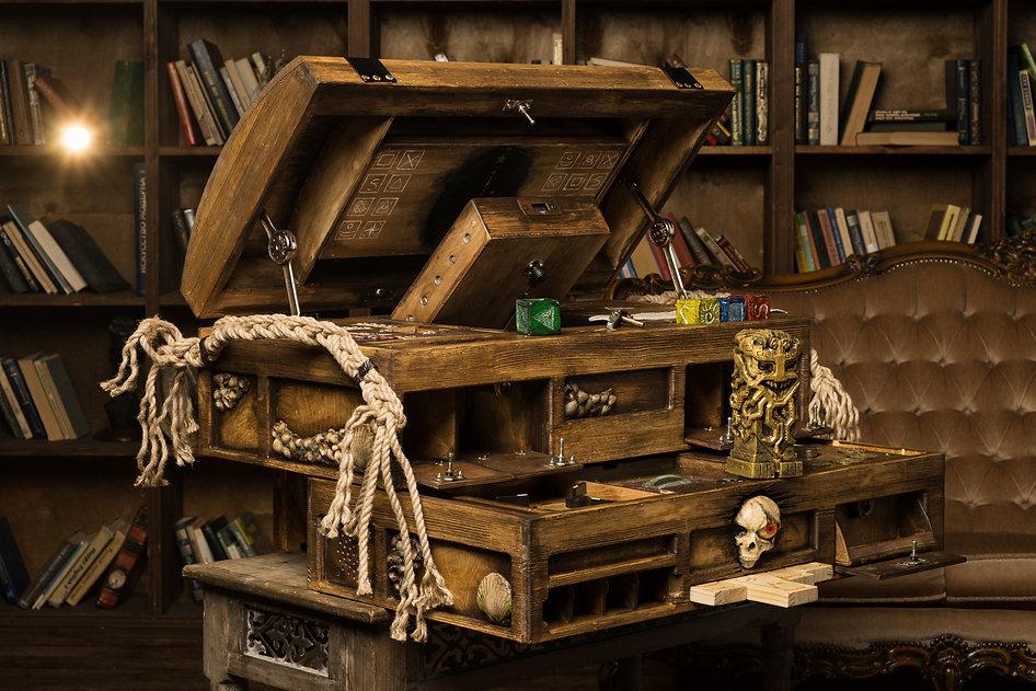escape game portable avec coffre pirate