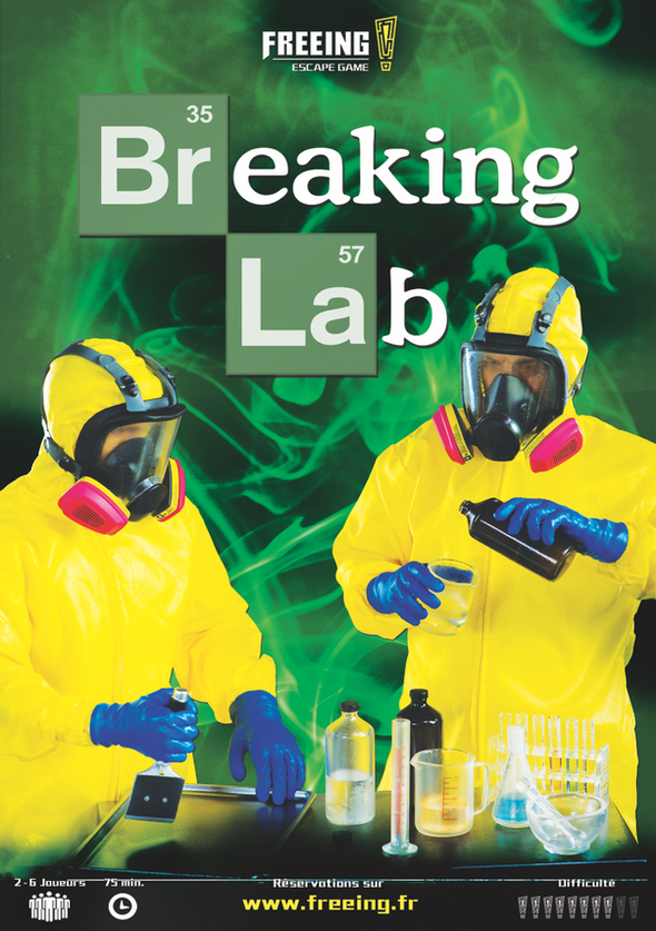 salle Breaking Lab freeing escape game