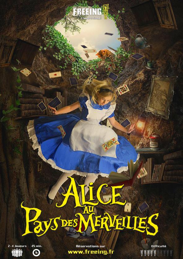 salle Alice au pays des merveilles escape game