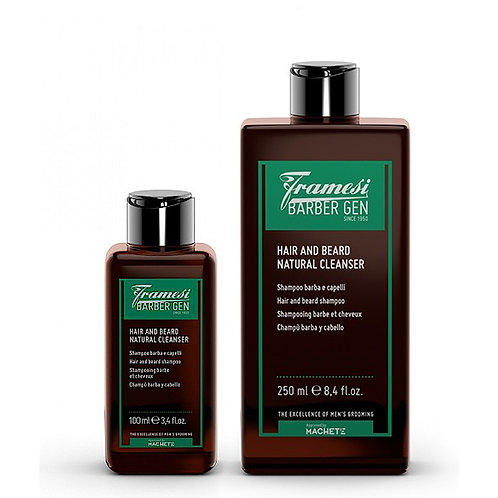 Framesi Barber Gen Hair & Beard Natural Cleanser 250ml/100ml
