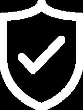 guarantee icon no background white tick in sheild