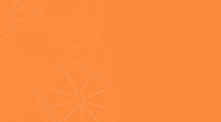 orange outline on orange background