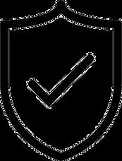 guarantee icon no background black tick in sheild